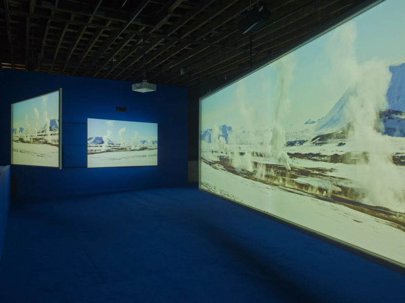 Isaac Julien - Playtime, 2014, Seven screen ultra high definition video installation with 7.1 surround sound, 66 min 57 sec, Victoria Miro, London, 2014