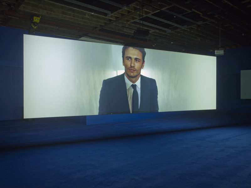James Franco in Isaac Julien's - Playtime, 2014, Seven screen ultra high definition video installation with 7.1 surround sound, 66 min 57 sec, Victoria Miro, London, 2014