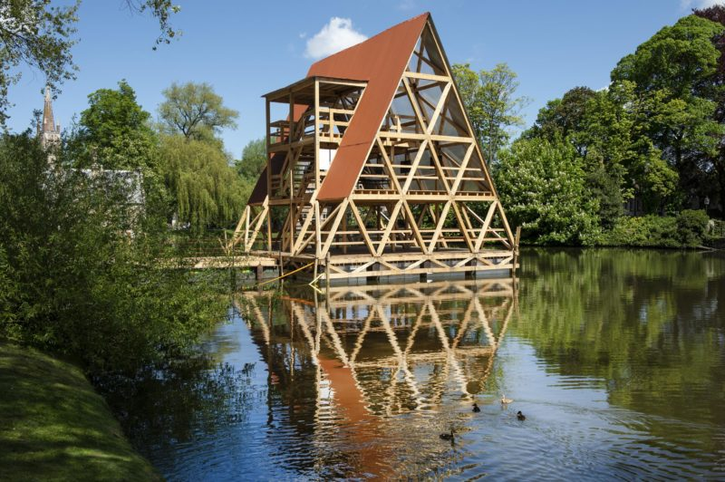 MFS III - Minne Floating School, at Bruges Triennale 2018, Minnewater, Bruges, Belgium, 2018