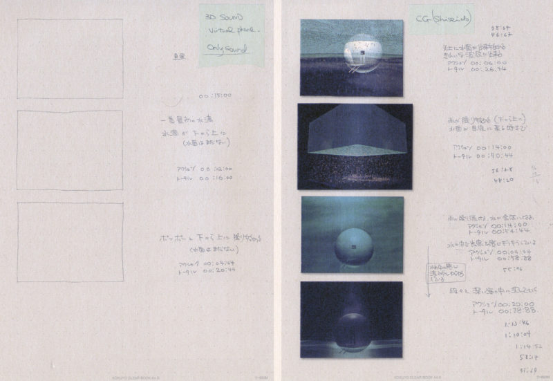 Mariko Mori - Storyboard plan for how different components of the temple would come together