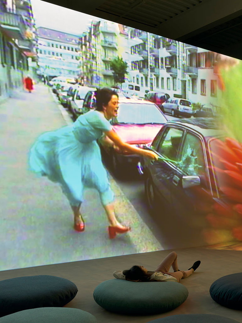 This was Pipilotti Rist's amusing Ever is over all