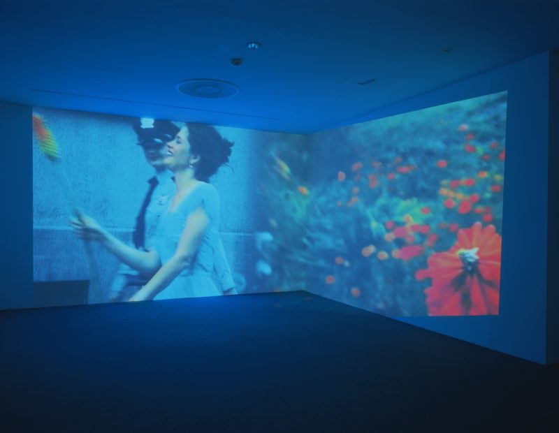 Pipilotti Rist - Ever Is Over All, 1997, audio video installation, Museum of Modern Art, New York, Aug 30, 2006 – Apr 9, 2007.