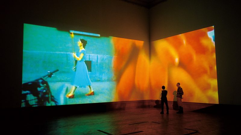 Pipilotti Rist - Ever Is Over All, 1997, audio-video installation, installation view