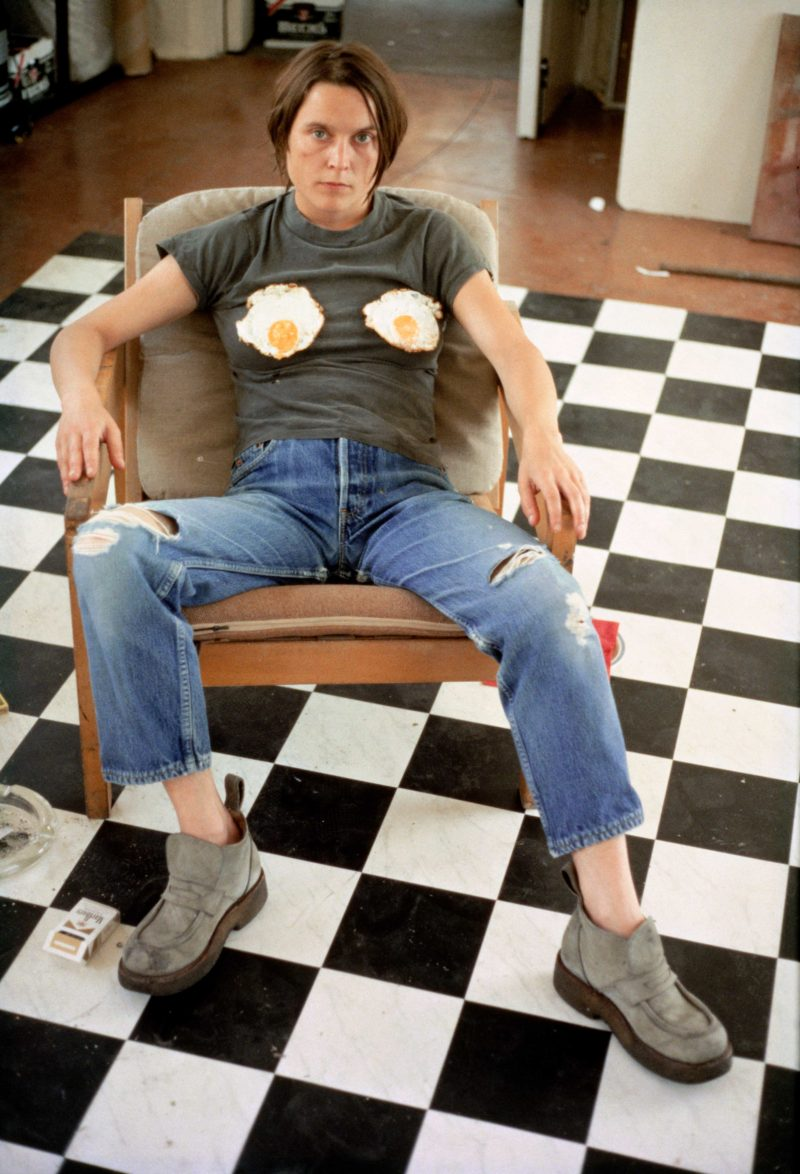 Sarah Lucas - Self Portrait with Fried Eggs. 1996