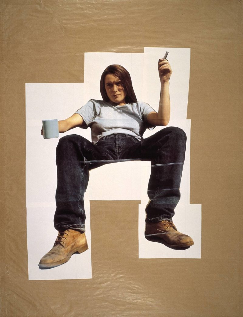 Sarah Lucas - Self Portrait with Mug of Tea, 1993