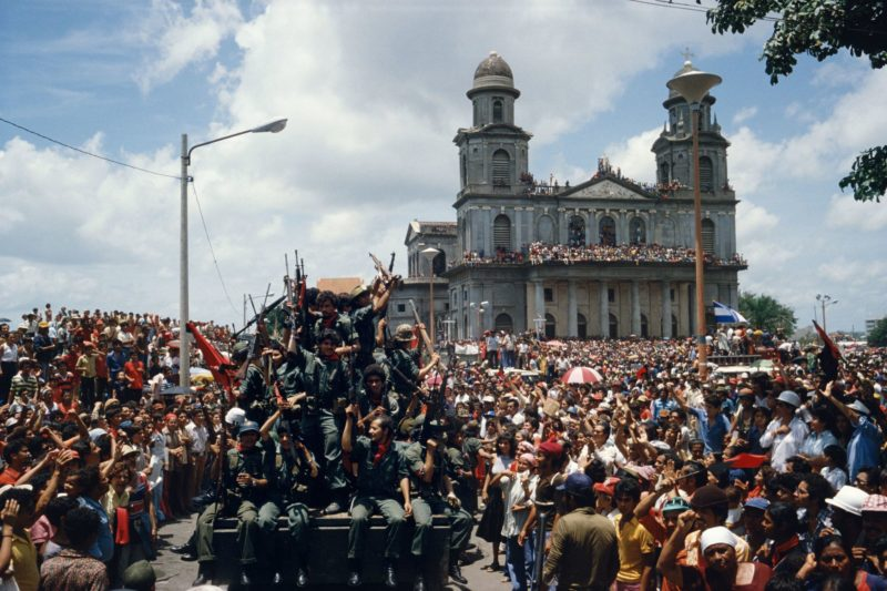 Susan Meiselas - Entering the central plaza in Managua to celebrate victory. Managua, Nicaragua. July 20, 1979