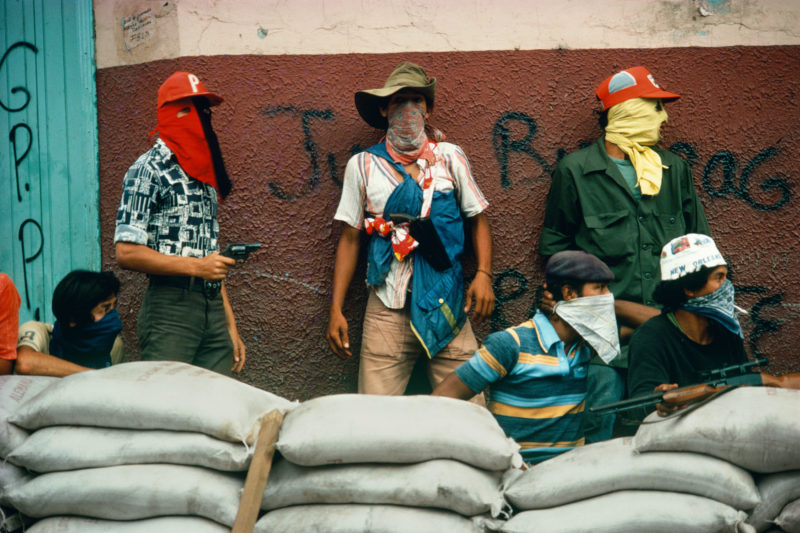 Susan Meiselas - Muchachos await the counterattack by the National Guard, Matagalpa, Nicaragua