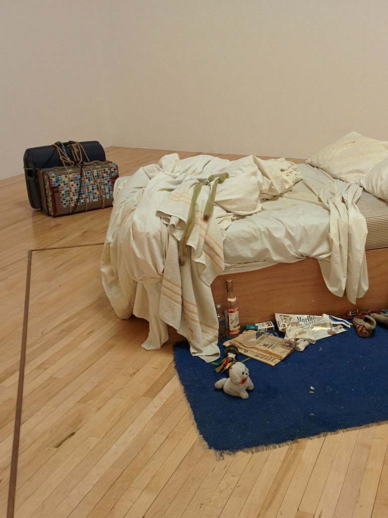 Why was Tracey Emin's bed a shock to the audience?
