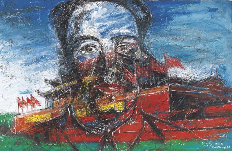 Zeng Fanzhi - Tiananmen, 2004, oil on canvas, 215 x 330 cm. (81 5:8 x 129 7:8 in.)