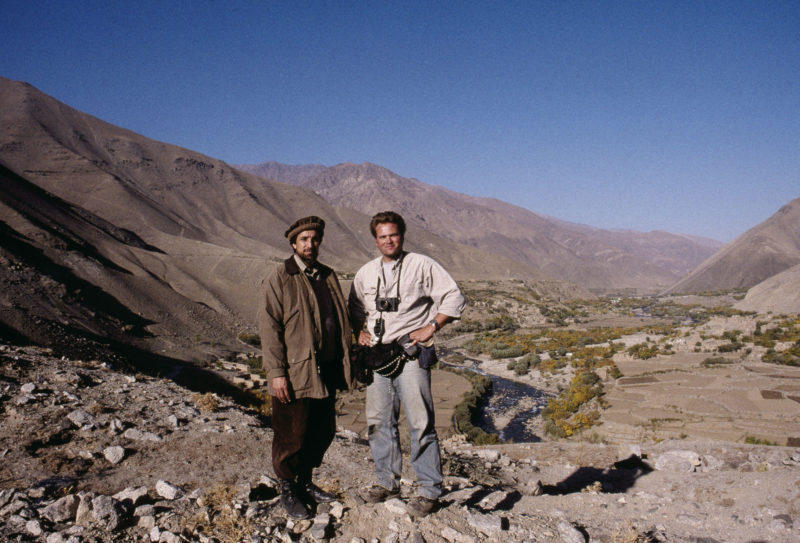 Ahmed Shah Massoud with Stephen Dupont, 1998. Jean-Mare Montali
