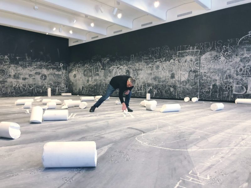 Allora & Calzadilla - Chalk, installation view, 2019, Walker Art Center, Minneapolis, 2019.