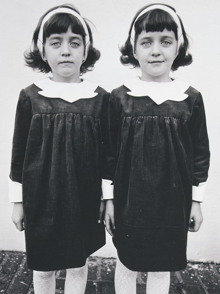 What is the meaning of Diane Arbus' iconic Twins photo?
