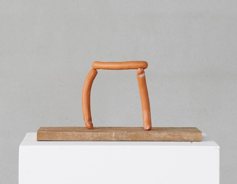 Erwin Wurm - Arch (abstract sculptures), 2013, bronze, paint, wood, 22 x 42.5 x 14 cm (8.66 x 16.73 x 5.51 in.)