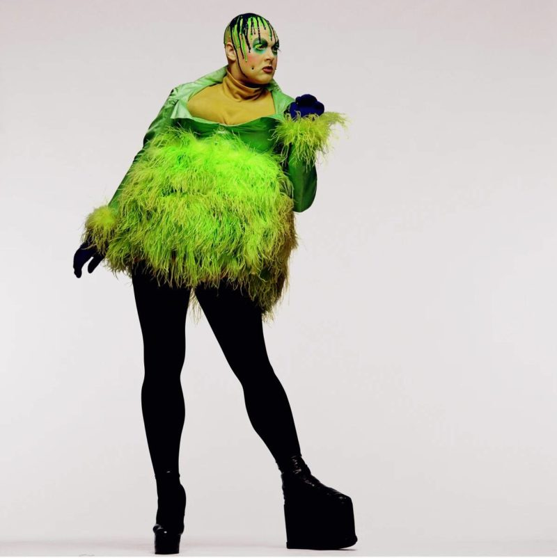 Fergus Greer's photo of Leigh Bowery, Session VII, Look 34, 1994