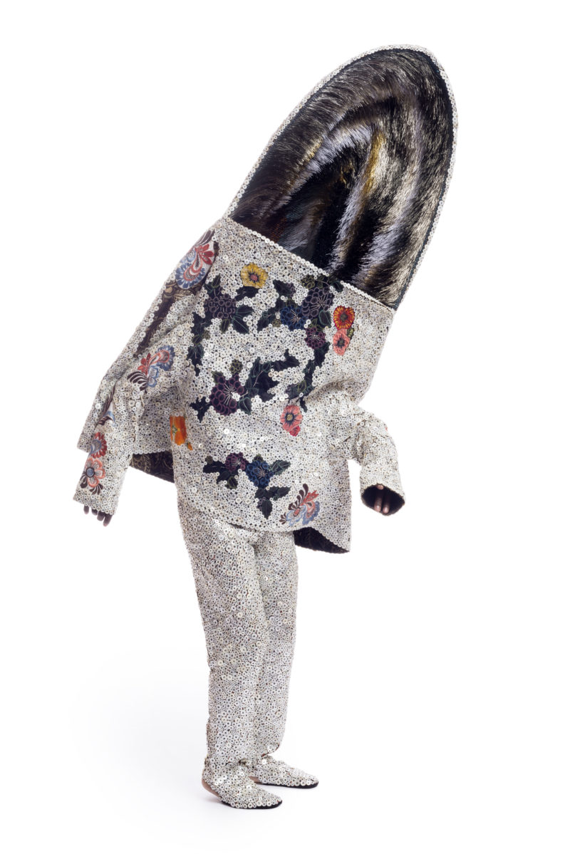 Nick Cave - Soundsuit, 2015, wire, bugle beads, buttons, sequined appliqués, fabric, metal, mannequin, 261.6 x 81.3 x 53.3 cm (103.0 x 32.0 x 21.0 in.)