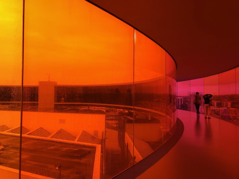 Olafur Eliasson – Your rainbow panorama, 2006-2011, glass in all the colors of the spectrum, ARoS Aarhus Kunstmuseum, Denmark