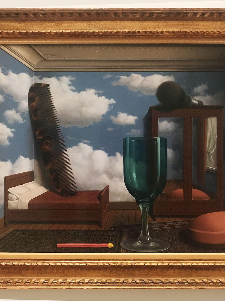 René Magritte's dreamlike painting Personal Values - The meaning behind