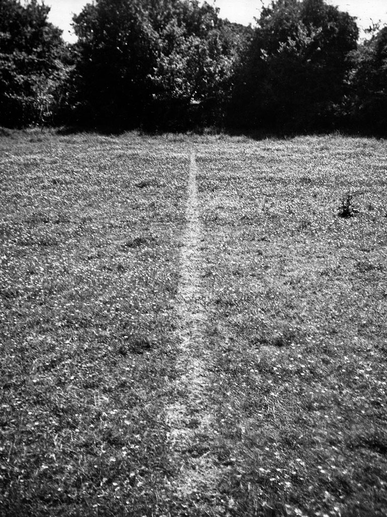 Richard Long's A line made by walking