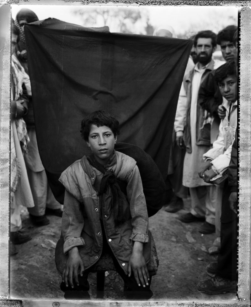 Stephen Dupont - An anonymous portrait on the streets of Kabul, Afghanistan, 2006.