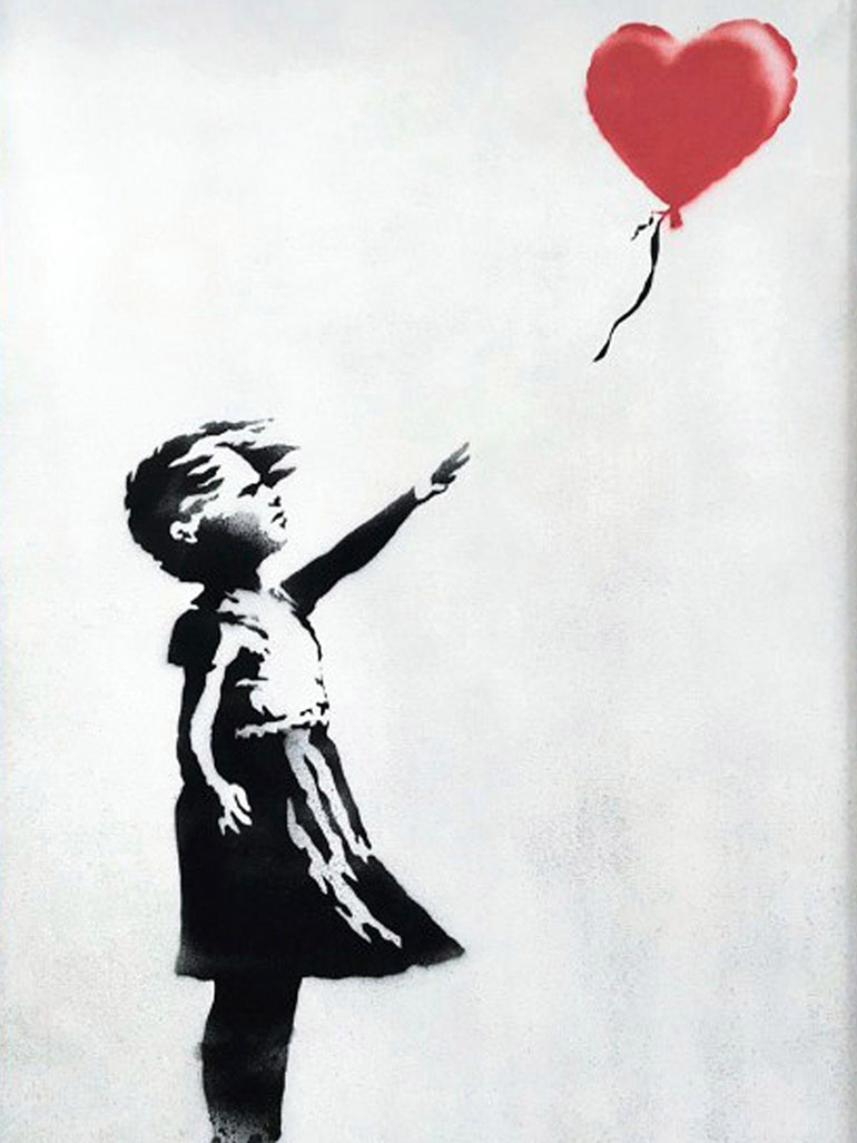 Girl with balloon - Banksy's most inspiring painting?