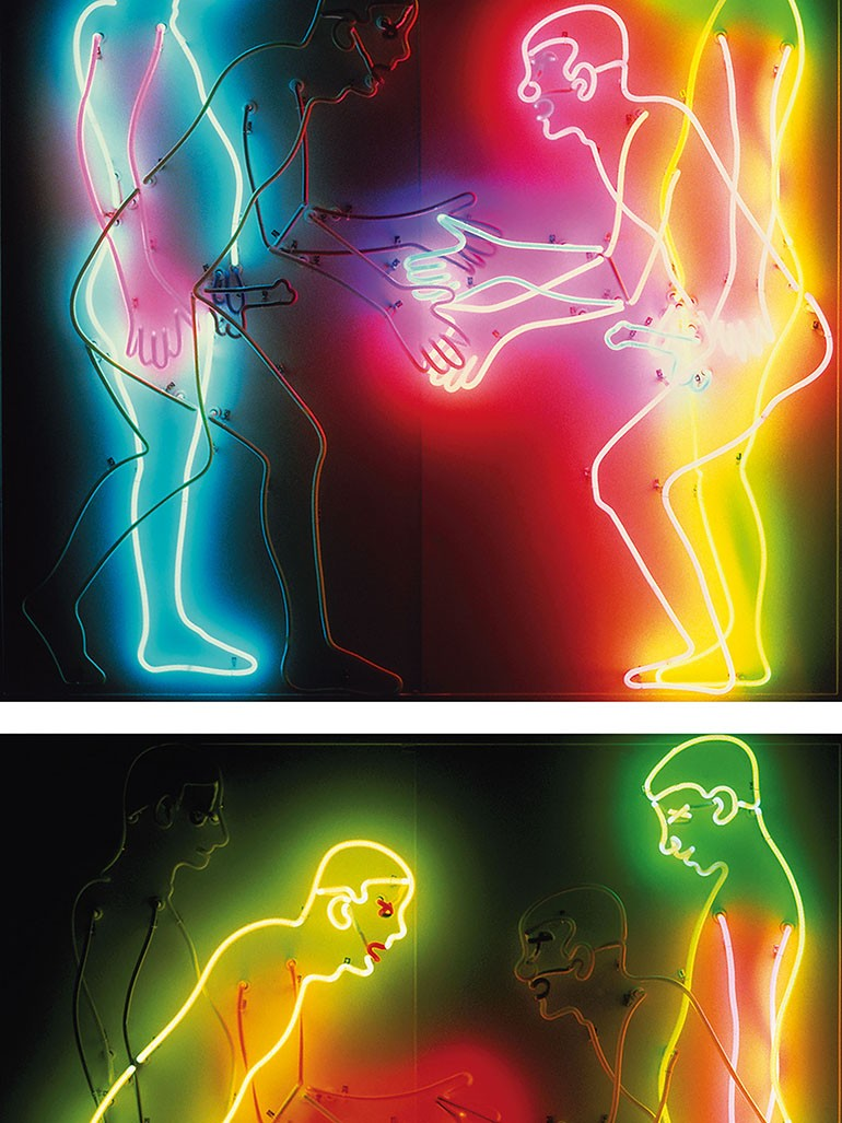 What makes Bruce Nauman's neons poetic & provocative?
