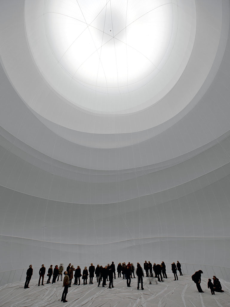 Christo - Big Air Package, 2010, Gasometer Oberhausen, Germany, 2010-2013
