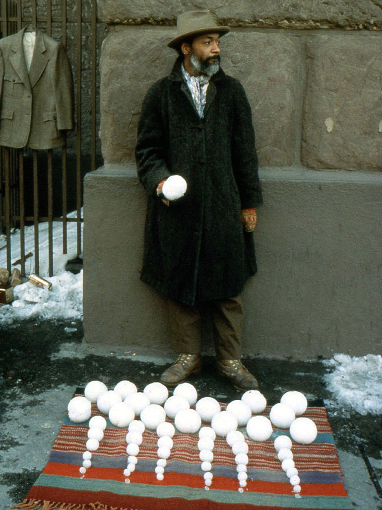 That time when David Hammons held his Bliz-aard Ball Sale