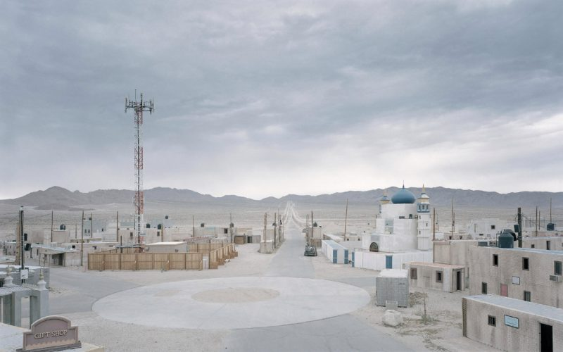 Gregor Sailer - The Potemkin Village - Fake buildings form a Middle Eastern town at Junction City, Fort Irwin in the Mojave Desert. The city is used for army training