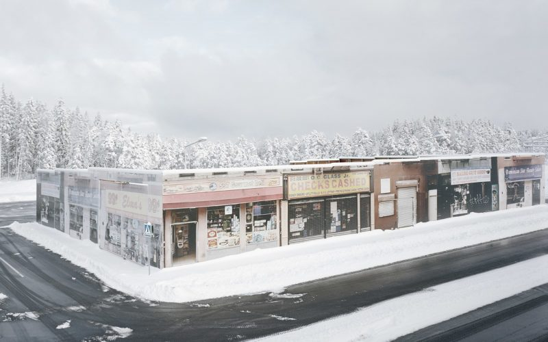 Gregor Sailer - The Potemkin Village - New York delis, beauty salons and other shops line the streets of the AstaZero proving ground in Sandhult, Sweden