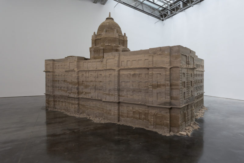 Huang Yong Ping - Bank of Sand, Sand of Bank, 2000, sand, concrete, 349.9 x 600.1 x 429.9 cm, Gladstone Gallery, New York, 2018
