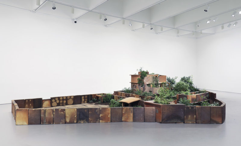 Huang Yongping - Abbottabad, 2013, ceramic, soil, and plants, installation view, Hirshhorn Museum and Sculpture Garden, 2018