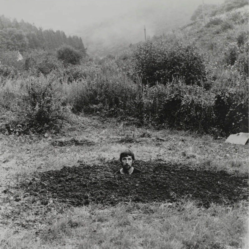 Keith Arnatt - Self-Burial (Television Interference Project), 1969