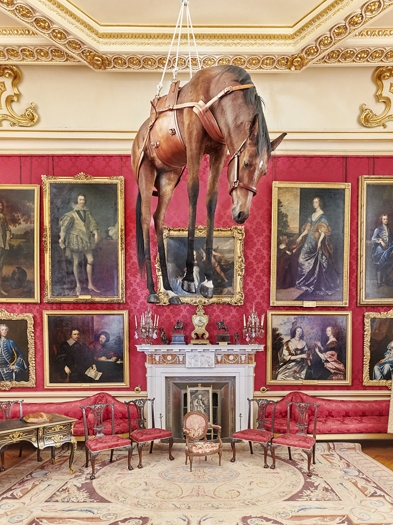Maurizio Cattelan - Novecento (1990), 1997, installation view, Victory is Not an Option, Blenheim Palace, 2019 feat
