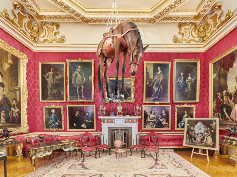 Maurizio Cattelan - Novecento, 1997, installation view, Victory is Not an Option, Blenheim Palace, 2019