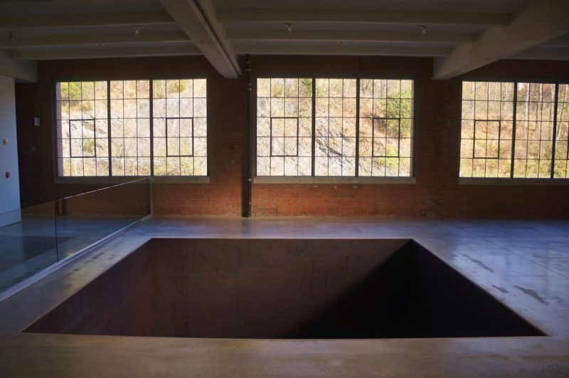 Michael Heizer – North, East, South, West, 1967:2002, installation view, Dia Art Foundation.