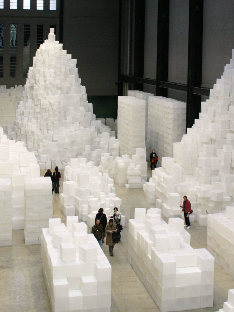 Rachel Whiteread's 14,000 white cubes at Tate - Embankment