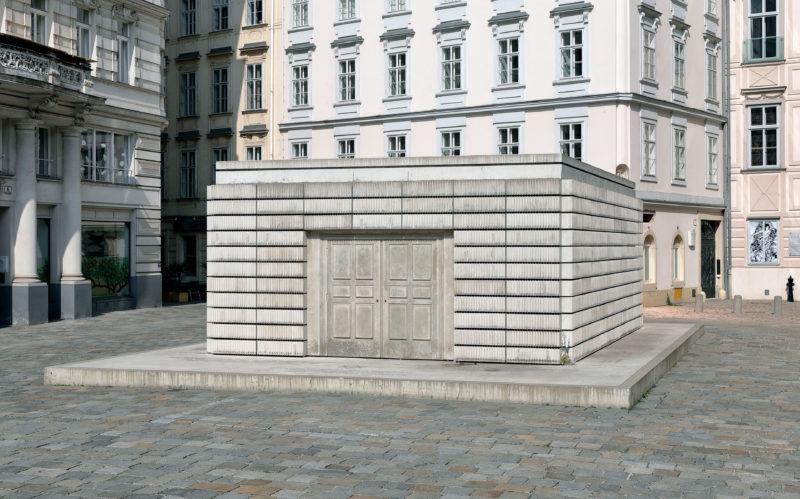 Rachel Whiteread - Holocaust Memorial, 2000, concrete, 3.8 x 7 x 10 m, Judenplatz, Vienna