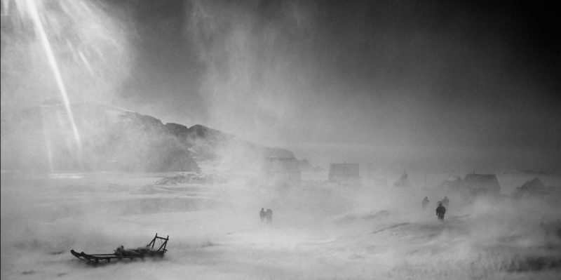 Ragnar Axelsson - Last Days of the Arctic - A piteraq storm in the village of Sermiliqaq on the east coast of Greenland