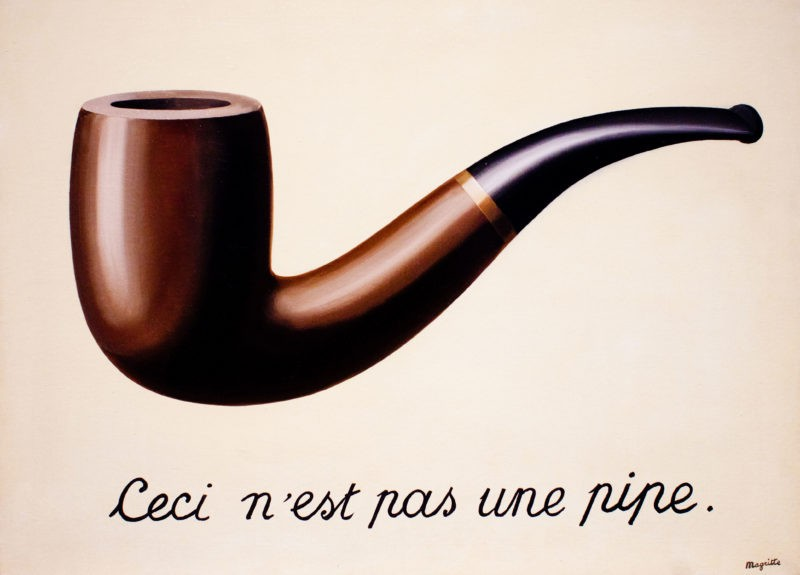 René Magritte – The Treachery of Images (This is Not a Pipe), 1929