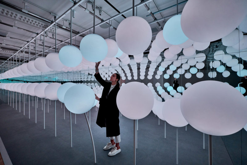 Snarkitecture - Sway, 2019, 168 responsive LED spheres