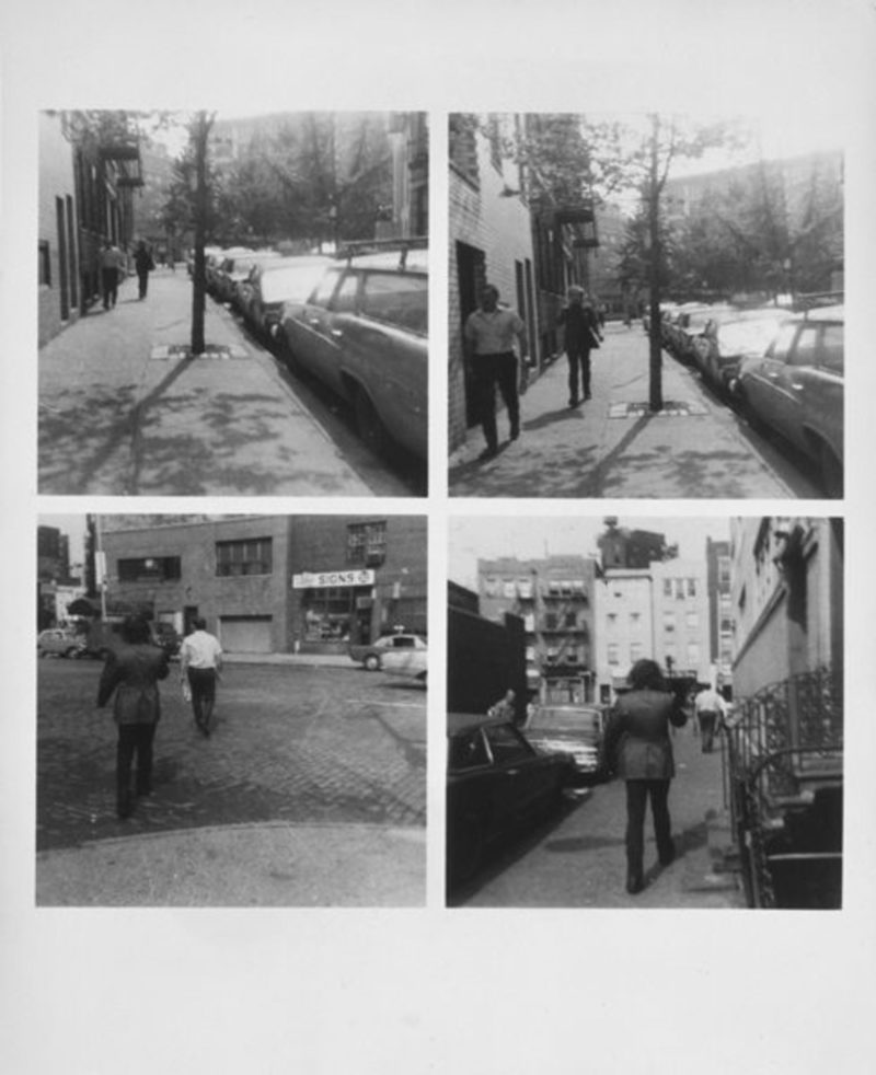 Vito Acconci - Following Piece, 1969