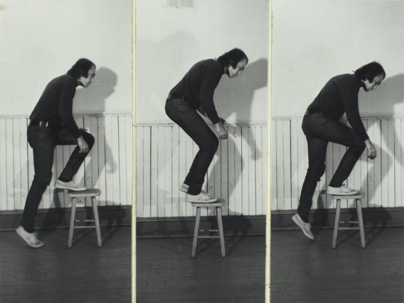 Vito Acconci - Step Piece, 1970