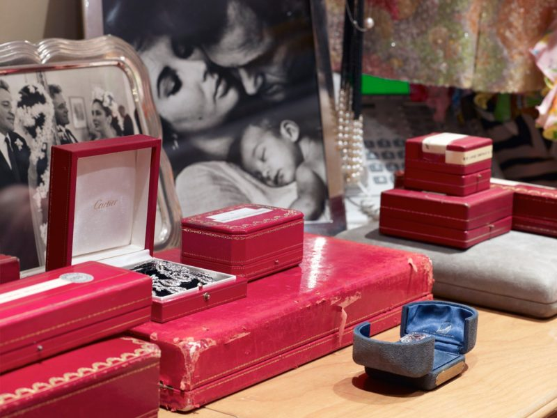 Catherine Opie – Cartier boxes, flanked by photos of Taylor and Burton