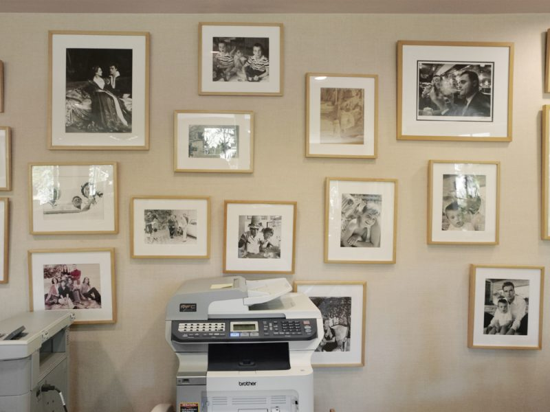 Catherine Opie – Office Printer and Photos, from 700 Nimes Road, Elizabeth Taylor's home
