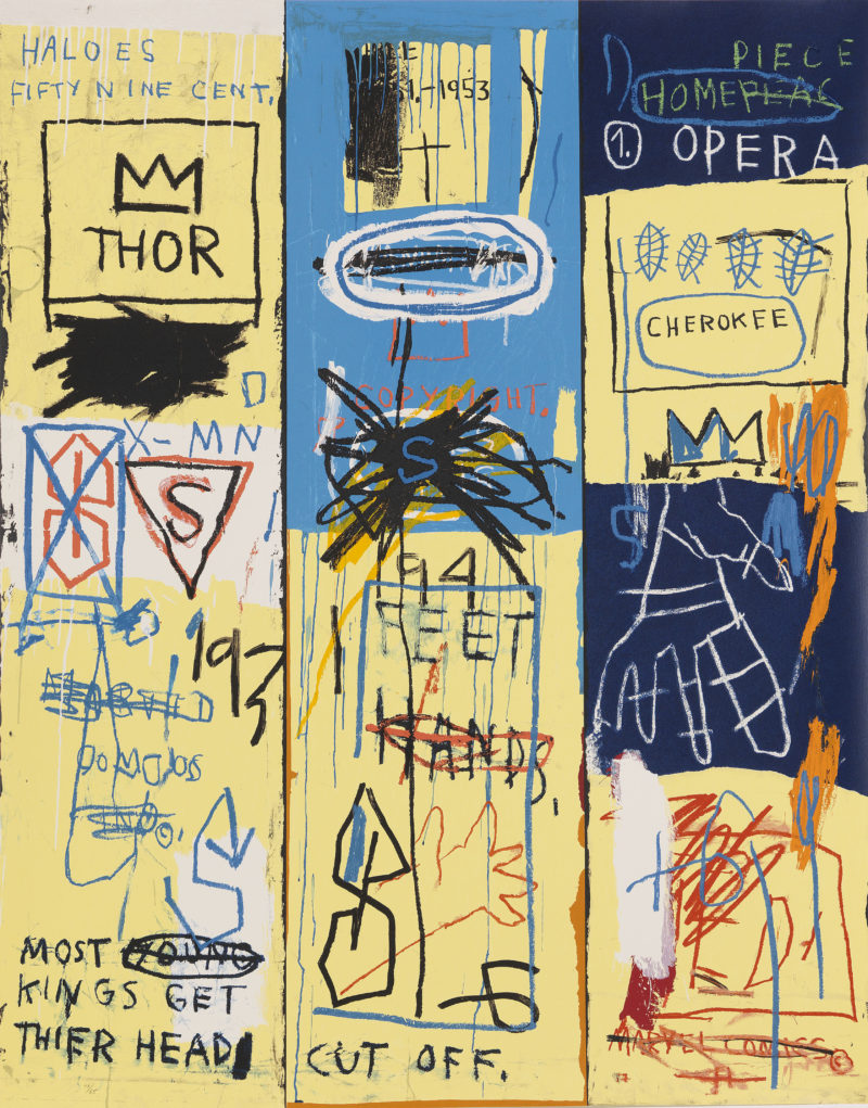 Jean-Michel Basquiat - Charles the First, 1982, screenprint in colors, (154.9 x 121.9 cm (61 x 48 in) , edition of 85