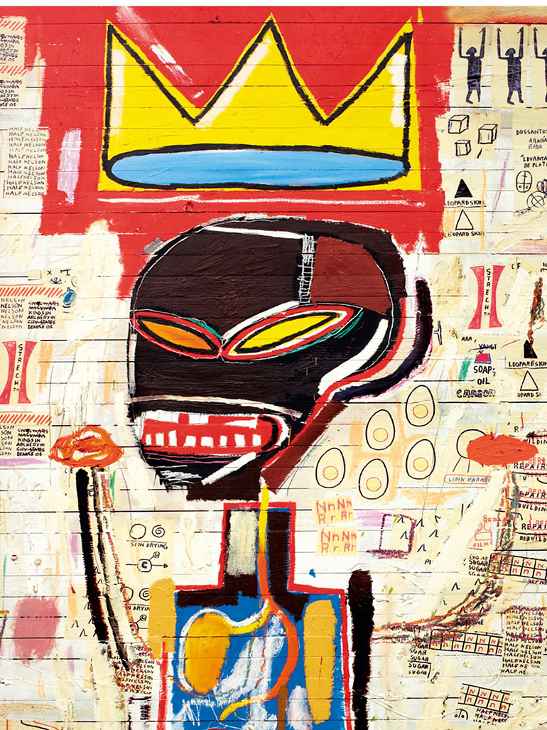 What does the crown in Basquiat paintings mean?