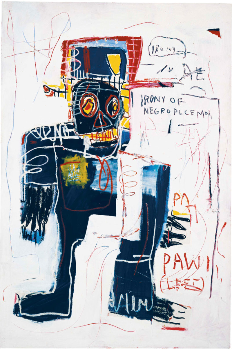 Jean-Michel Basquiat - Irony of a Negro Policeman, 1981, Acrylic on canvas, 183 x 122 cm