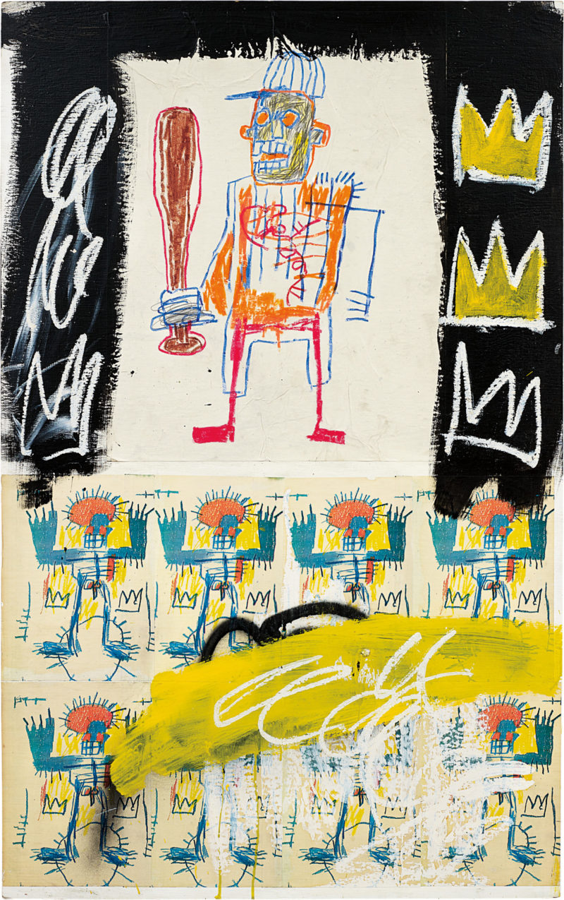 Jean-Michel Basquiat - Untitled, 1981, acrylic, oilstick and xerox on wood, 122 x 76.2 cm (48 x 30 in), phillips.com