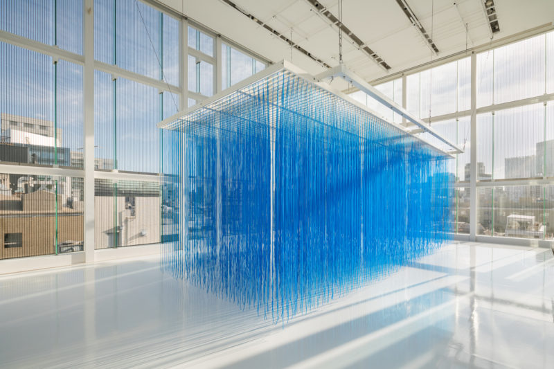 Jesús Rafael Soto - Pénétrable BBL bleu, 1999, installation view, Espace Louis Vuitton Tokyo, Tokyo, Japan, 2018 Dec to 2019 May