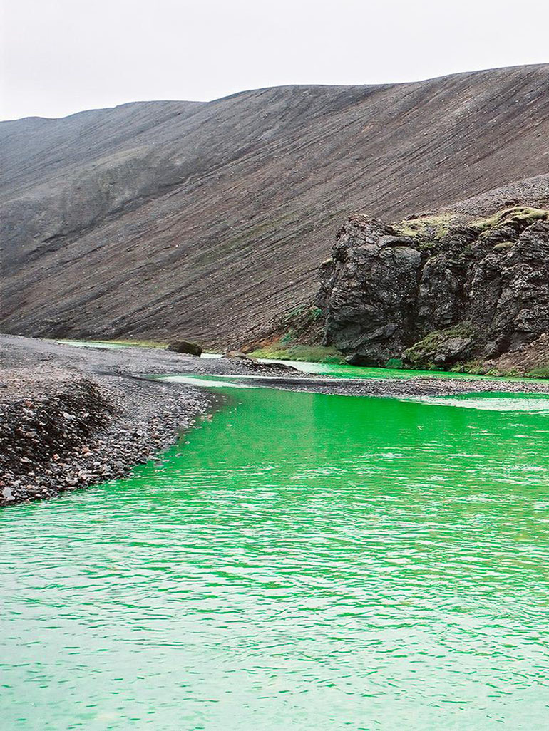 Why did Olafur Eliasson turn these rivers green?